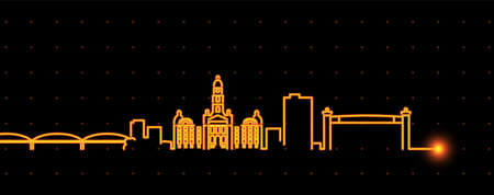 Fort Worth Light Streak Skyline Profile