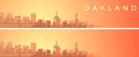 Oakland Beautiful Skyline Scenery Banner
