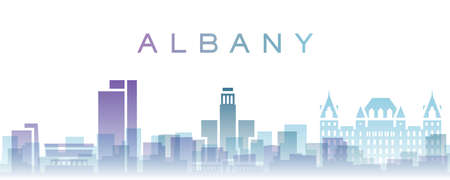 Albany Transparent Layers Gradient Landmarks Skyline