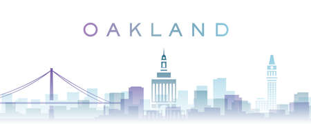 Oakland Transparent Layers Gradient Landmarks Skyline