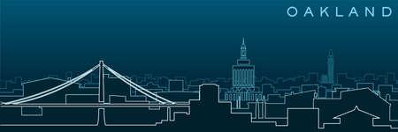 Oakland Multiple Lines Skyline and Landmarks