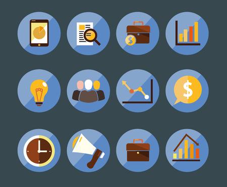 Set of marketing icons Ilustração