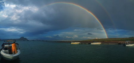 Panorama of lake Powell after a storm