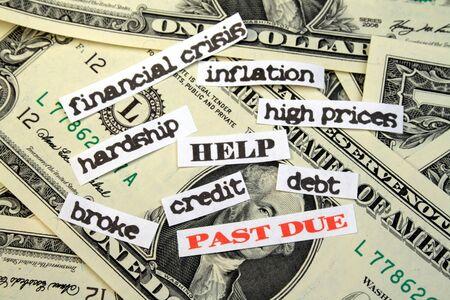 ontbering: Geld met ACHTERSTALLIGE schuld HELP financiële crisis inflatie hoge prijzen ontberingen krediet brak