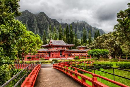 Byodo-in Temple in Ahuimanu, Hawaii