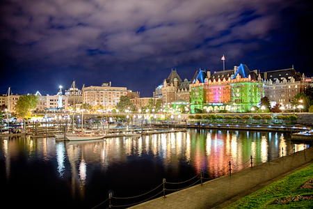 View of the beautiful harbor of Victoria, Vancouver Island, BC, Canada Editorial