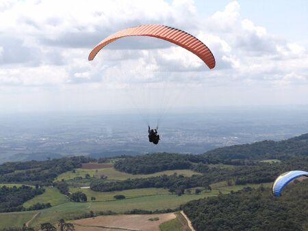paraglider: one paraglider
