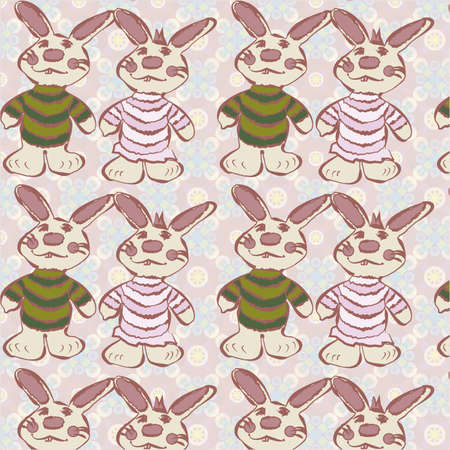 camaraderie: couple of rabbits with pink background