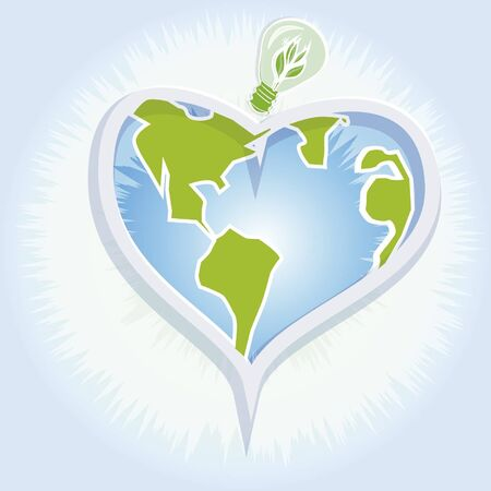 however: the heart of the earth,love your land,heart of the earth with rays of light Illustration
