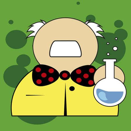 experimenting: scientist experimenting