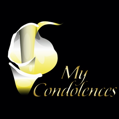 condolence: Flower of condolence