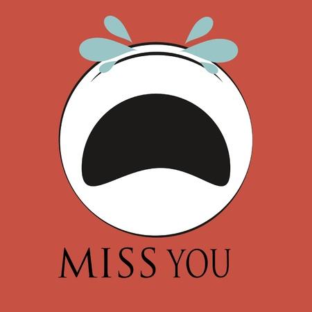 sad face: apologizing sad face Illustration