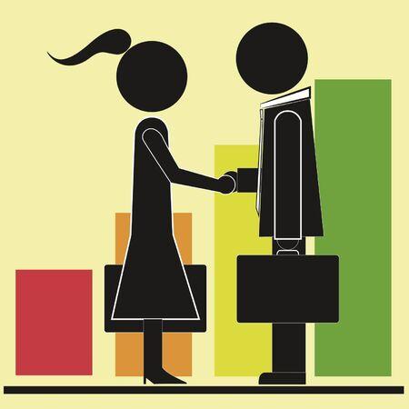 cerrando negocio: cierre ejecutivos Vectores