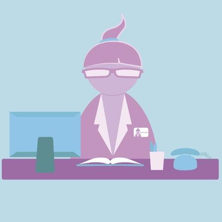 office secretary Vector