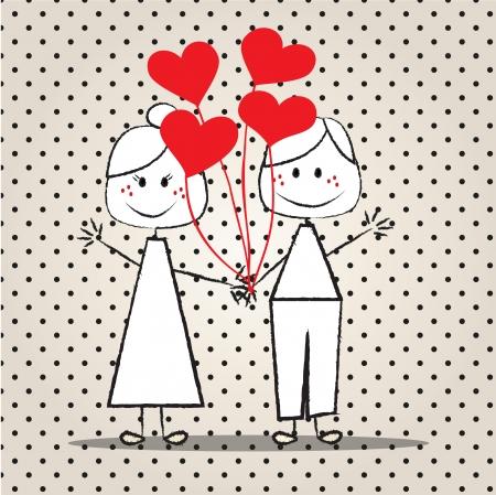 holding hands children holding balloons for lovers
