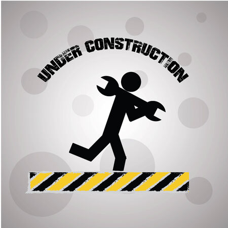 Underconstruction over gray background
