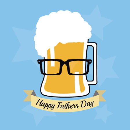 Fathers Day Design over Blue  color background  Vector