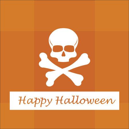 Halloween vectors over background wit textures Vector