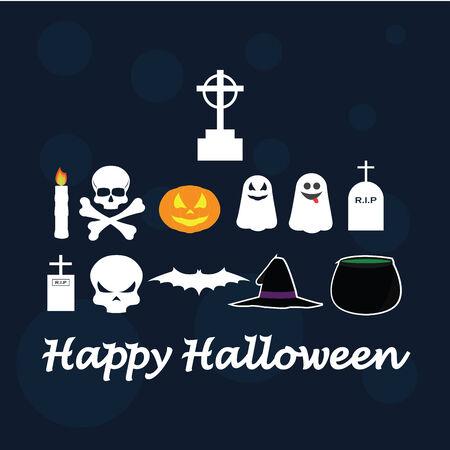 wit: Halloween vectors over background wit textures
