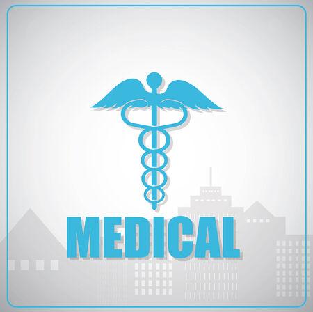 aesculapius: Esculapio medico simbolo vettoriale. Vettoriali