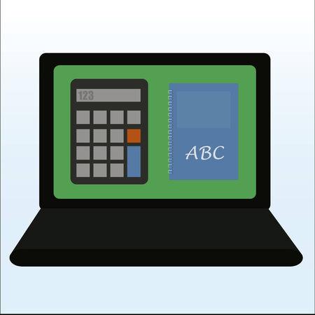 Laptop design over color background Vector