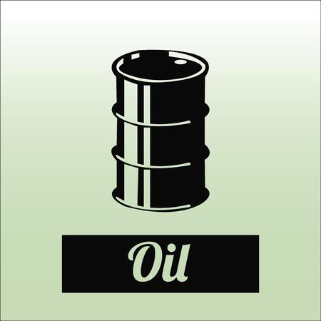 barril de petróleo: Aceite o ilustración combustible sobre el fondo de color