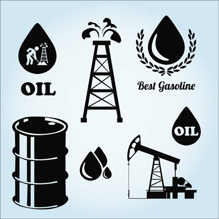 combustible: Oil or combustible illustration over color background