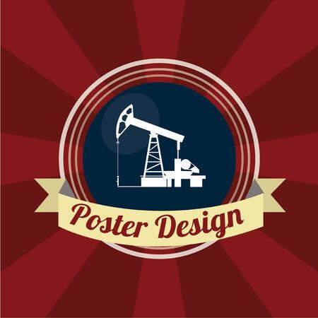 exploitation: oil poster design over color background