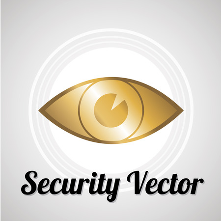 Security vector over gray color background Vector