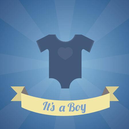 its a boy: Its a boy illustration over blue color background Illustration