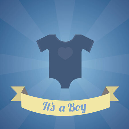 Its a boy illustration over blue color background Illustration