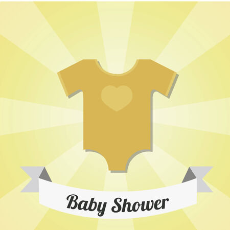 romper: romper baby  illustration over yellow color background