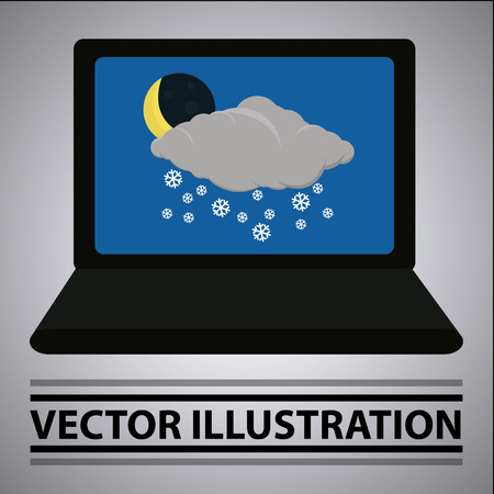 screensaver: weather situation like a laptop screensaver Illustration