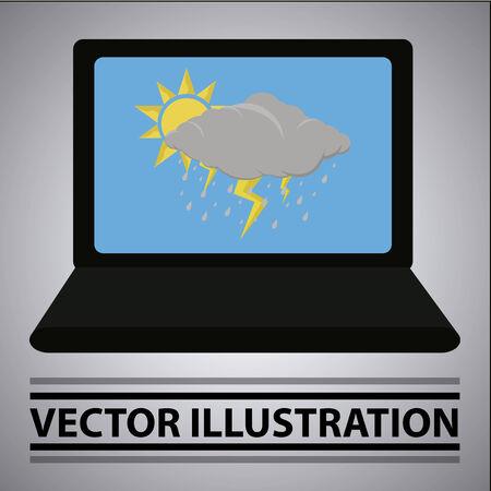 logo couleur: situation m�t�orologique comme un �conomiseur d'�cran pour ordinateur portable