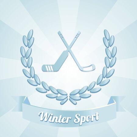 winter sport illustration over blue color background Vector