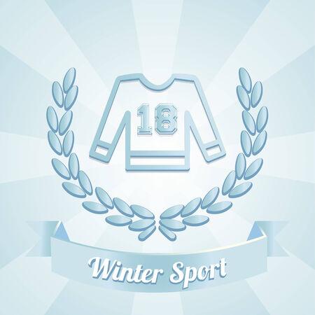 winter sport: winter sport illustration over blue color background