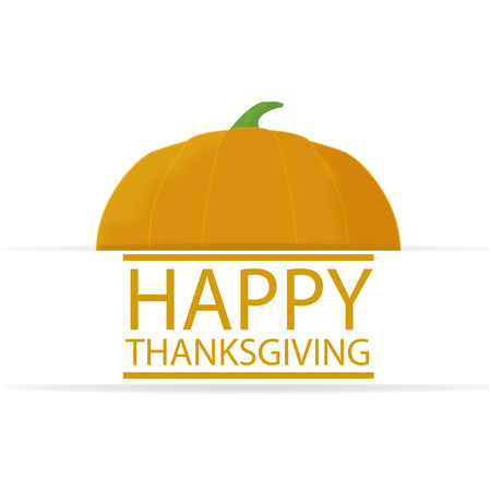 thanksgiving illustration over color background Illusztráció