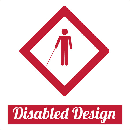 disabled illustration over white color background Vector