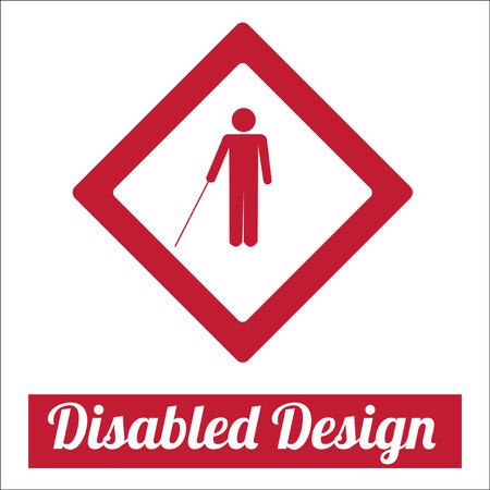 disabled illustration over white color background Vector
