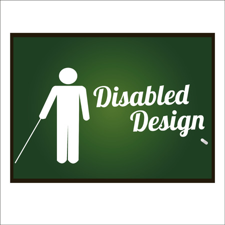 cane chair: disabled illustration over white color background