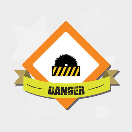 Under construction signal over color background Vector