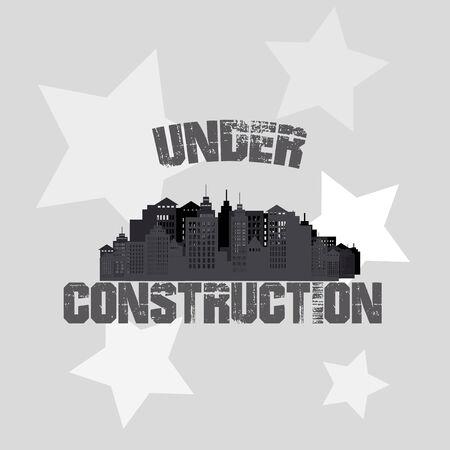Under construction illustration over color background Vector