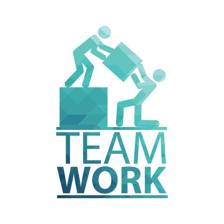 Team Work Illustration over white color background Vector