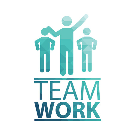white color: Team Work Illustration over white color background