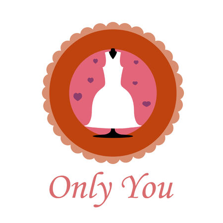 only you love illustration over color background Vector