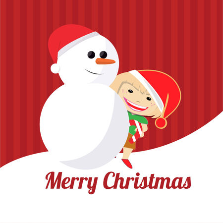 Christmas Illustration over color background Vector
