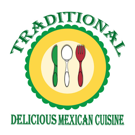 Mexican Food illustration over color background Vector