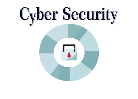 cyber security illustration over white color background