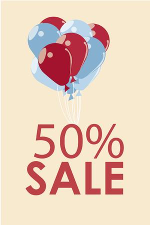 sales illustration over color background Vector