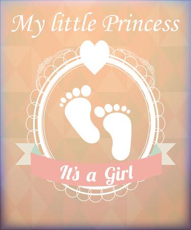 fondo para bebe: objetos para beb�s ejemplo, beb� pies sobre la textura de fondo Vectores